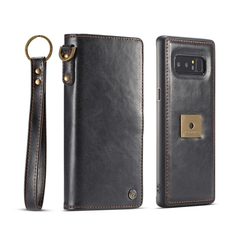 Кожаный чехол-кошелек CaseMe для iPhone X + TPU задняя крышка-бампер + ремешок 215418