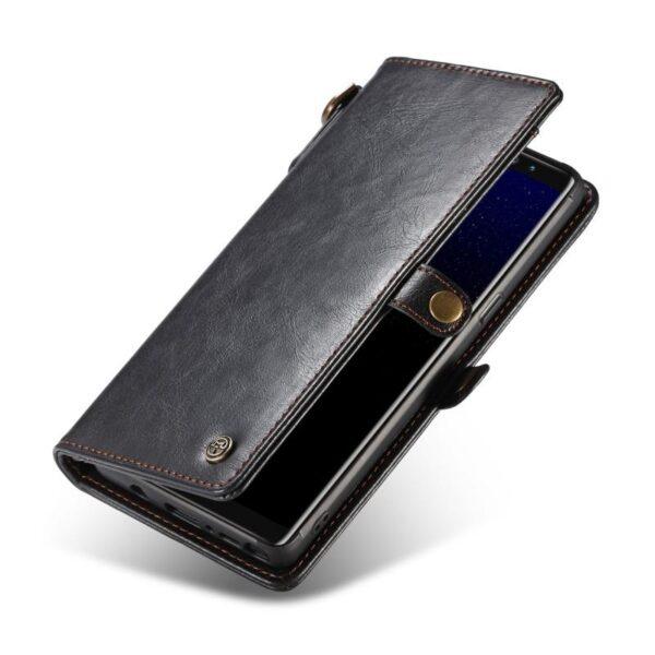 39903 - Кожаный чехол-кошелек CaseMe для iPhone X + TPU задняя крышка-бампер + ремешок