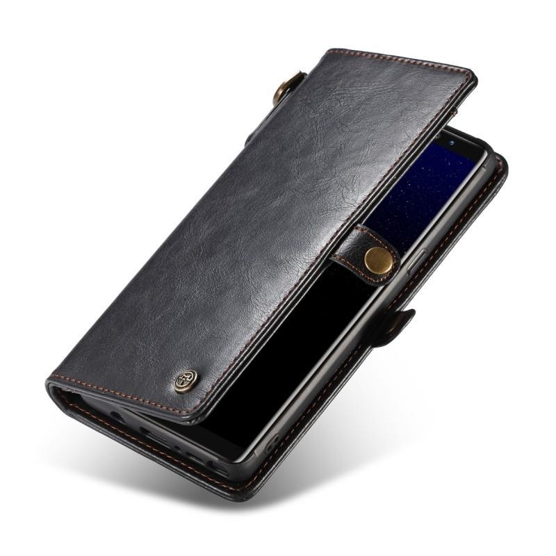Кожаный чехол-кошелек CaseMe для iPhone X + TPU задняя крышка-бампер + ремешок 215419