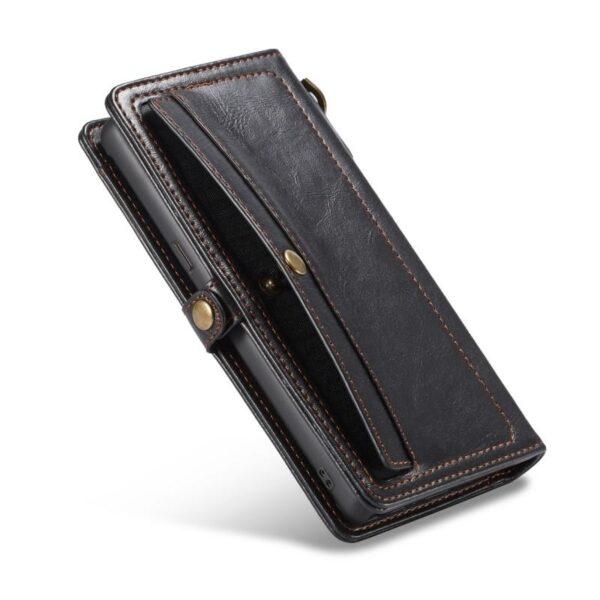 39904 - Кожаный чехол-кошелек CaseMe для iPhone X + TPU задняя крышка-бампер + ремешок