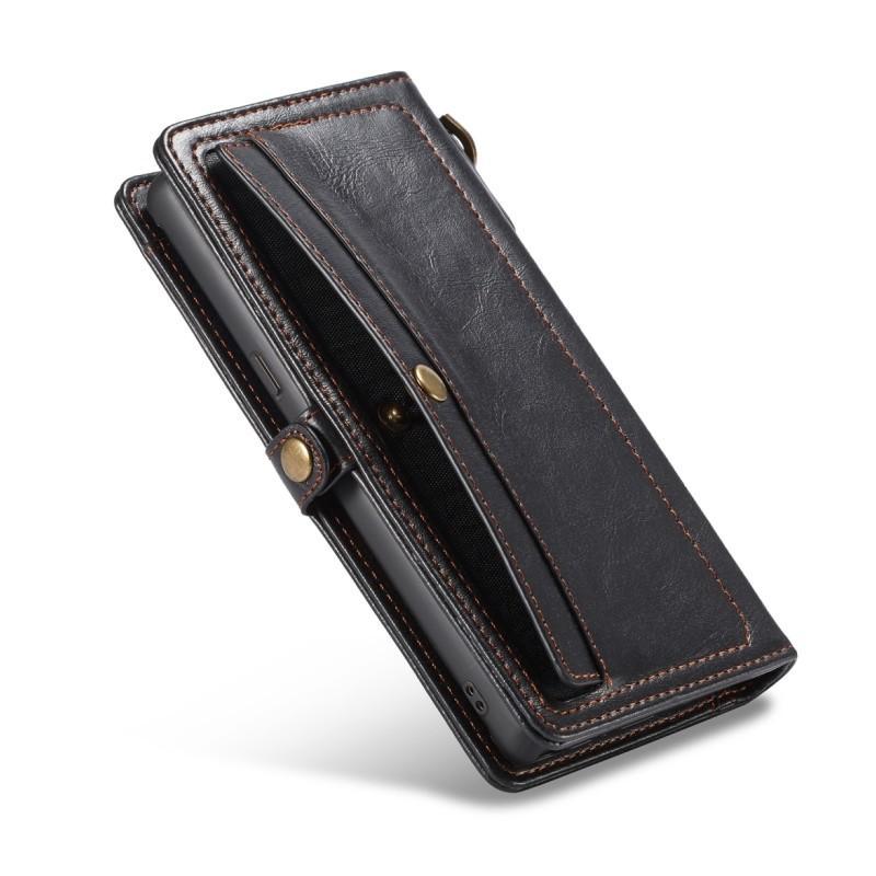 Кожаный чехол-кошелек CaseMe для iPhone X + TPU задняя крышка-бампер + ремешок 215420