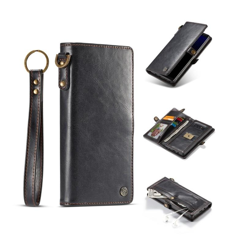 Кожаный чехол-кошелек CaseMe для iPhone X + TPU задняя крышка-бампер + ремешок 215422