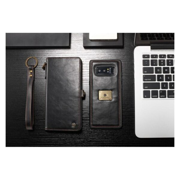 39907 - Кожаный чехол-кошелек CaseMe для iPhone X + TPU задняя крышка-бампер + ремешок