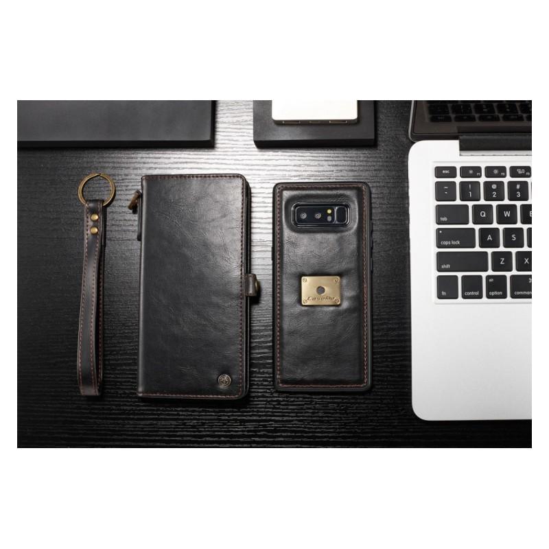 Кожаный чехол-кошелек CaseMe для iPhone X + TPU задняя крышка-бампер + ремешок 215423