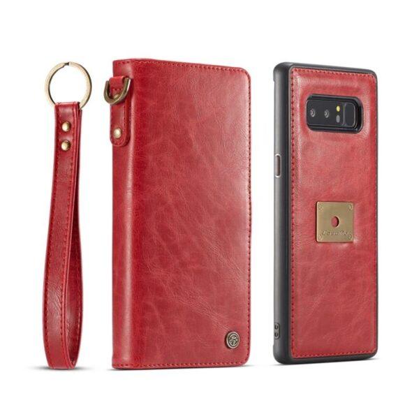 39909 - Кожаный чехол-кошелек CaseMe для iPhone X + TPU задняя крышка-бампер + ремешок
