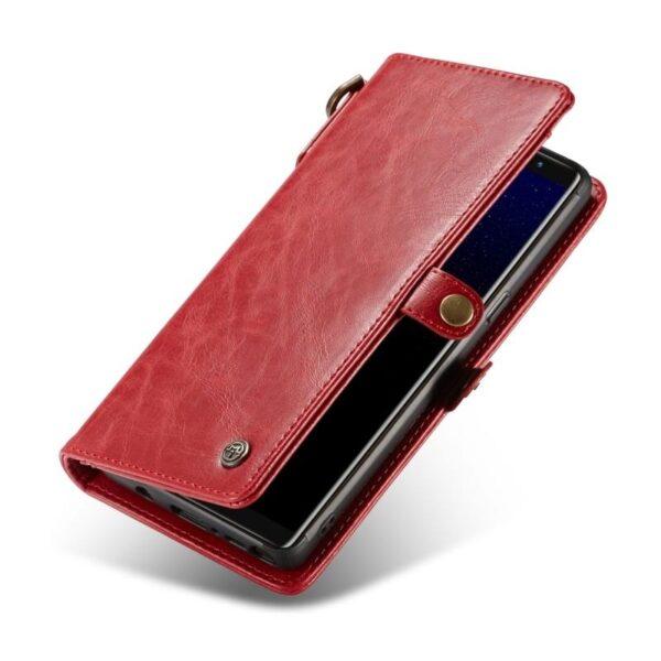 39910 - Кожаный чехол-кошелек CaseMe для iPhone X + TPU задняя крышка-бампер + ремешок
