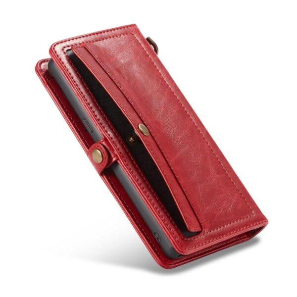 39911 - Кожаный чехол-кошелек CaseMe для iPhone X + TPU задняя крышка-бампер + ремешок