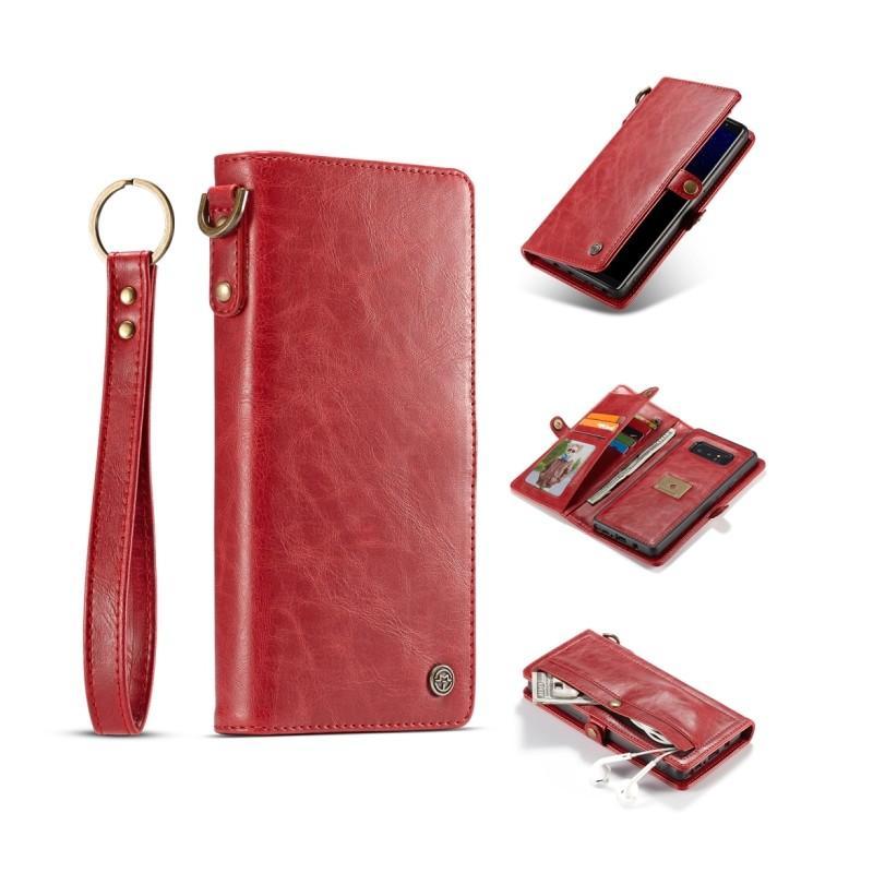 Кожаный чехол-кошелек CaseMe для iPhone X + TPU задняя крышка-бампер + ремешок 215429