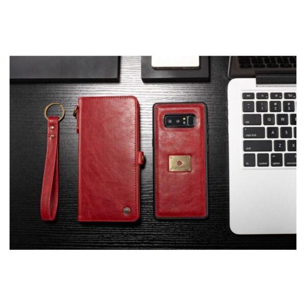 39914 - Кожаный чехол-кошелек CaseMe для iPhone X + TPU задняя крышка-бампер + ремешок