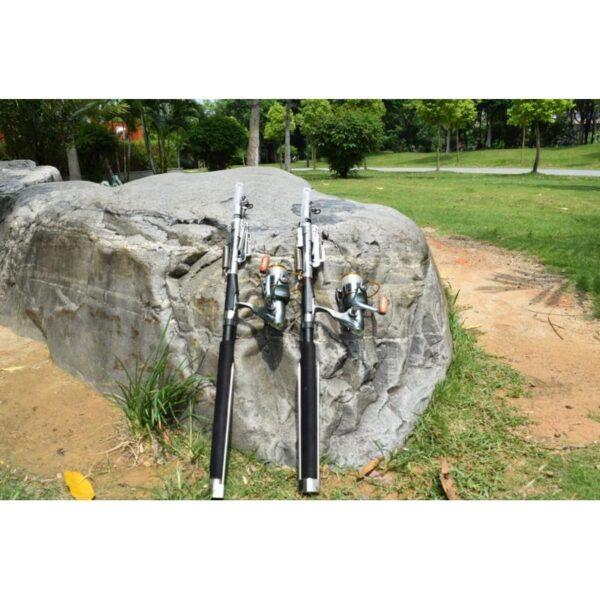 39939 - Самоподсекающая телескопическая удочка FisherGoMan 2,7 м: стеклопластик, кольца из металлокерамики, держатель удилища