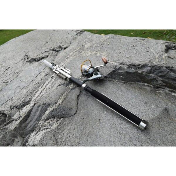 39940 - Самоподсекающая телескопическая удочка FisherGoMan 2,7 м: стеклопластик, кольца из металлокерамики, держатель удилища