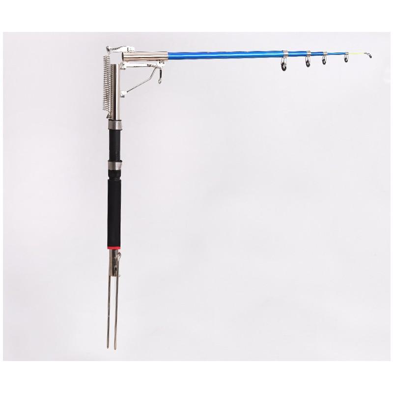 39945 - Самоподсекающая телескопическая удочка FisherGoMan 2,7 м: стеклопластик, кольца из металлокерамики, держатель удилища