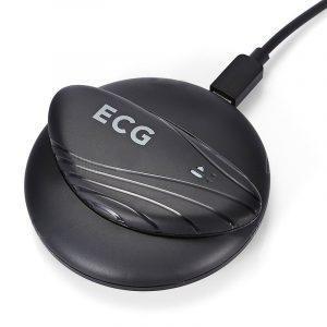 Спортивный электрокардиограф (ЭКГ-монитор) ECG: Bluetooth 4.0, приложение для iOS, Android, медицинская оценка ЭКГ, потозащита