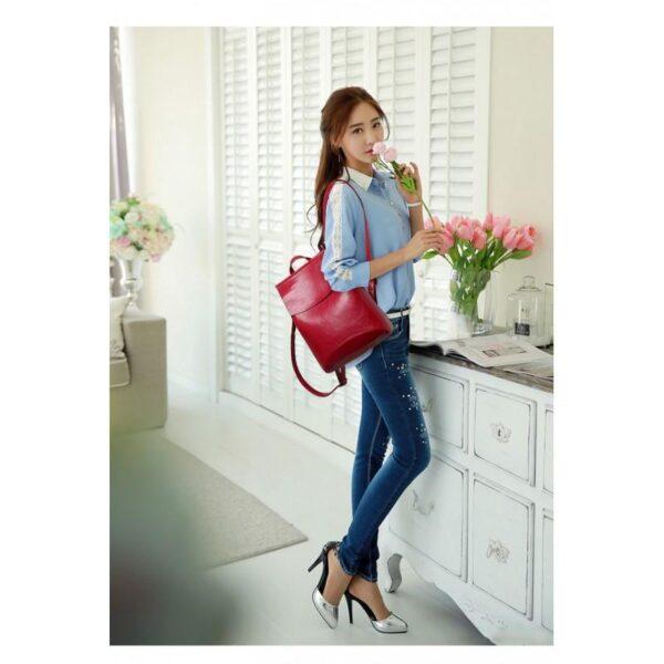 40018 - Многофункциональная сумка-рюкзак VoogyVoo: PU-кожа