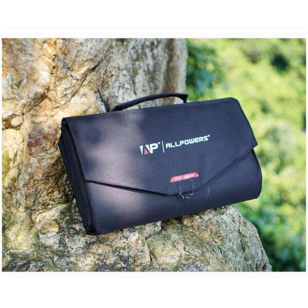 40056 - Портативное солнечное зарядное Allpowers 60 Вт: 2 USB-порта по 2 А, 1 порт DC 18 В для зарядки ноутбука