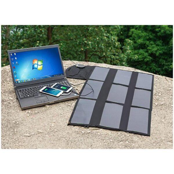 40058 - Портативное солнечное зарядное Allpowers 60 Вт: 2 USB-порта по 2 А, 1 порт DC 18 В для зарядки ноутбука