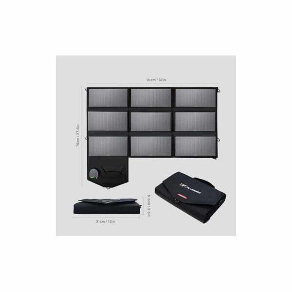 40066 - Портативное солнечное зарядное Allpowers 60 Вт: 2 USB-порта по 2 А, 1 порт DC 18 В для зарядки ноутбука