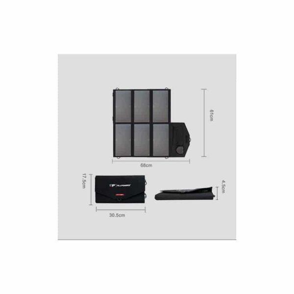 40089 - Портативное солнечное зарядное Allpowers 36 Вт: 2 USB-порт 5В/2 А, 1 порт DC 18В/1А для зарядки ноутбука