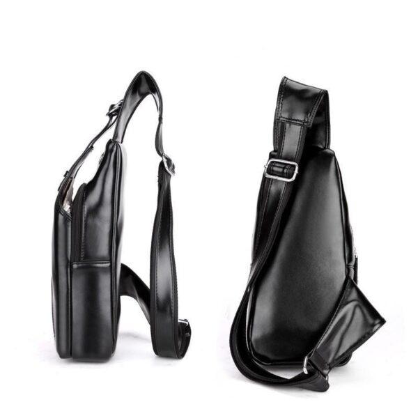40097 - Стильная мужская сумка-рюкзак Locoer Backpack: PU кожа, 3 цвета, регулируемый ремень, 3 варианта ношения