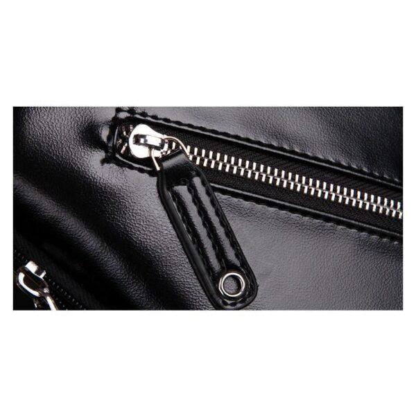 40100 - Стильная мужская сумка-рюкзак Locoer Backpack: PU кожа, 3 цвета, регулируемый ремень, 3 варианта ношения