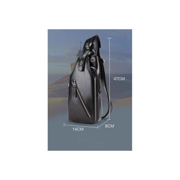 40101 - Стильная мужская сумка-рюкзак Locoer Backpack: PU кожа, 3 цвета, регулируемый ремень, 3 варианта ношения