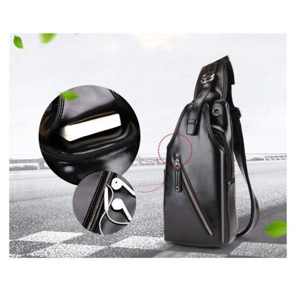 40103 - Стильная мужская сумка-рюкзак Locoer Backpack: PU кожа, 3 цвета, регулируемый ремень, 3 варианта ношения