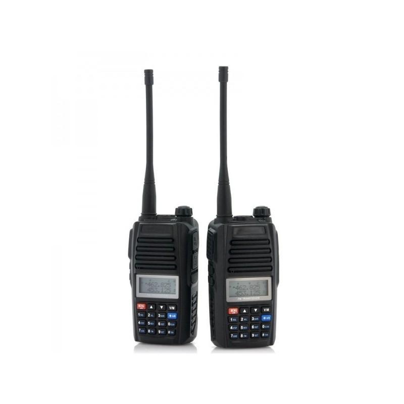 Набор УВЧ раций Walkie Talkie большого радиуса действия (3-5 км, 220 В, 400 – 469.995 МГц, поддержка FM) – 2 штуки в комплекте 186353