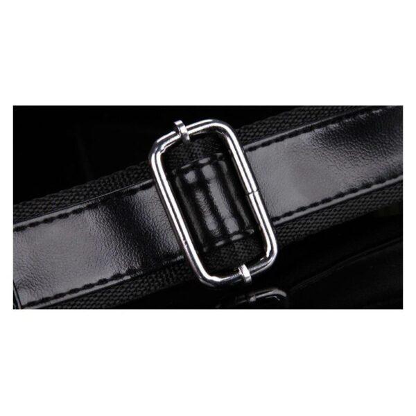40106 - Стильная мужская сумка-рюкзак Locoer Backpack: PU кожа, 3 цвета, регулируемый ремень, 3 варианта ношения