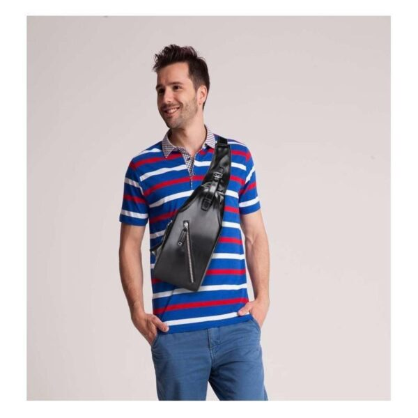 40110 - Стильная мужская сумка-рюкзак Locoer Backpack: PU кожа, 3 цвета, регулируемый ремень, 3 варианта ношения