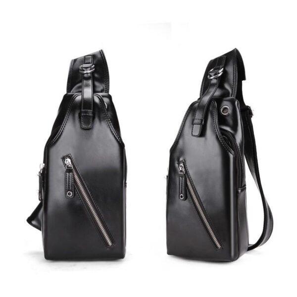 40114 - Стильная мужская сумка-рюкзак Locoer Backpack: PU кожа, 3 цвета, регулируемый ремень, 3 варианта ношения