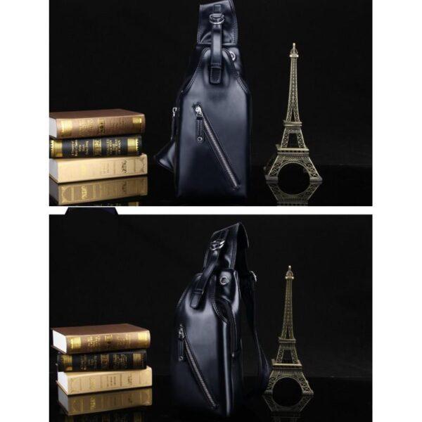40116 - Стильная мужская сумка-рюкзак Locoer Backpack: PU кожа, 3 цвета, регулируемый ремень, 3 варианта ношения