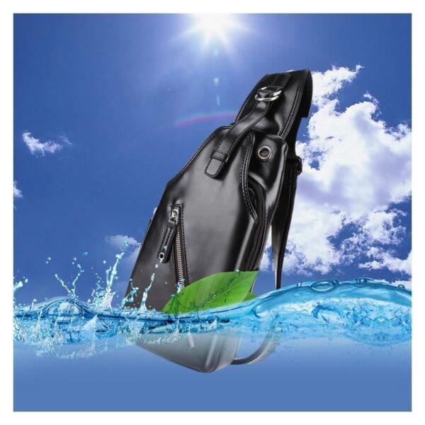 40117 - Стильная мужская сумка-рюкзак Locoer Backpack: PU кожа, 3 цвета, регулируемый ремень, 3 варианта ношения