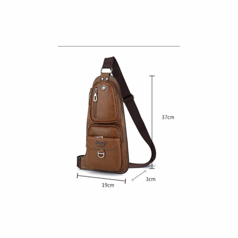 Мужская сумка-рюкзак FlyBag: PU кожа, регулируемый ремень, много карманов 215589