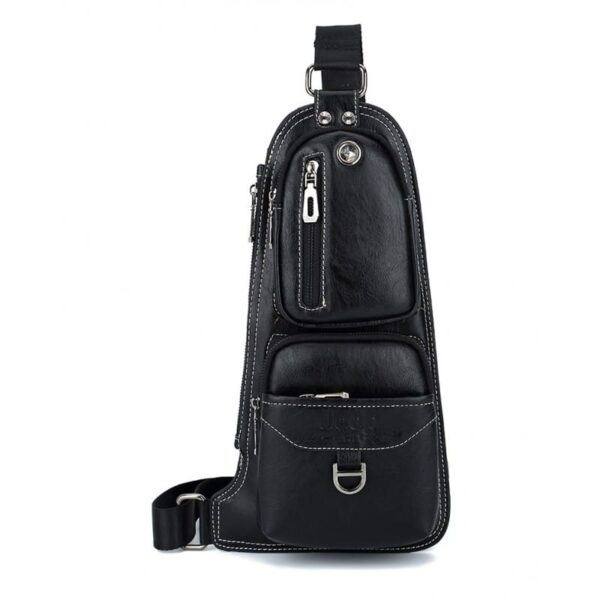 40121 - Мужская сумка-рюкзак FlyBag: PU кожа, регулируемый ремень, много карманов