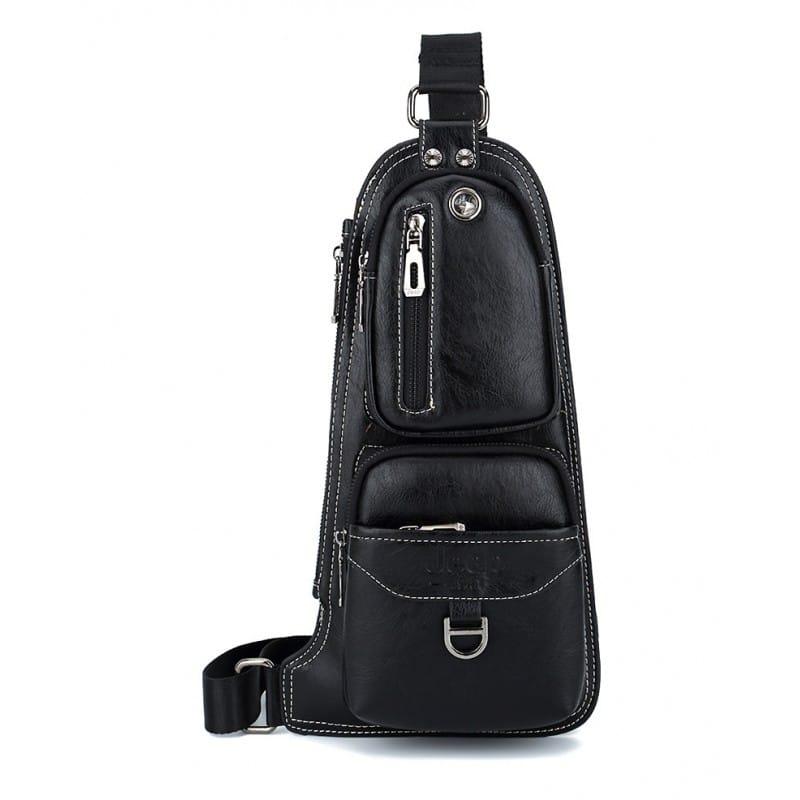 Мужская сумка-рюкзак FlyBag: PU кожа, регулируемый ремень, много карманов 215590