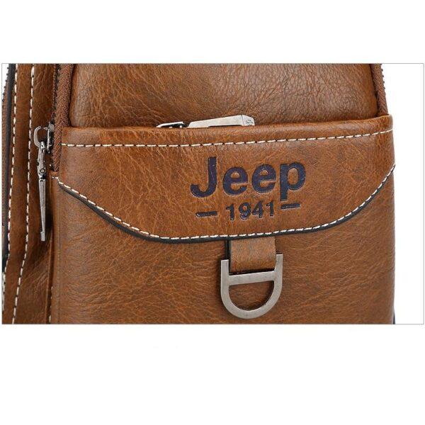 40122 - Мужская сумка-рюкзак FlyBag: PU кожа, регулируемый ремень, много карманов