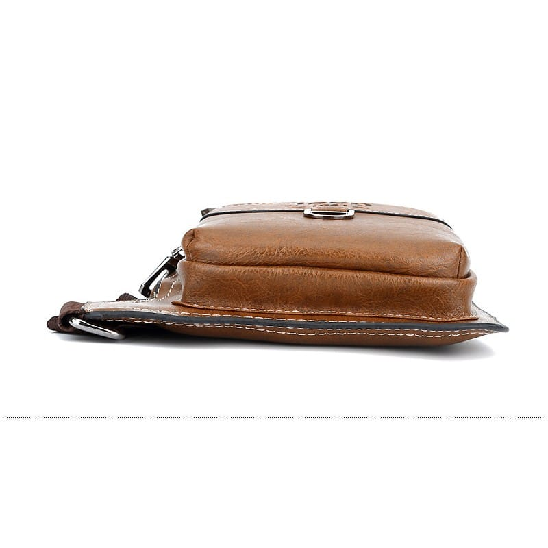Мужская сумка-рюкзак FlyBag: PU кожа, регулируемый ремень, много карманов 215593