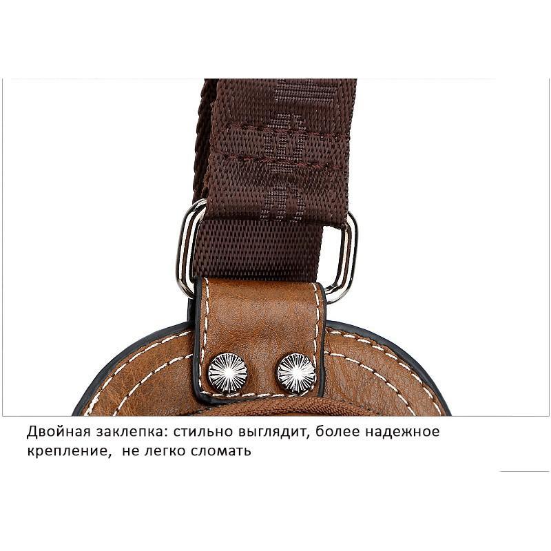 Мужская сумка-рюкзак FlyBag: PU кожа, регулируемый ремень, много карманов 215594