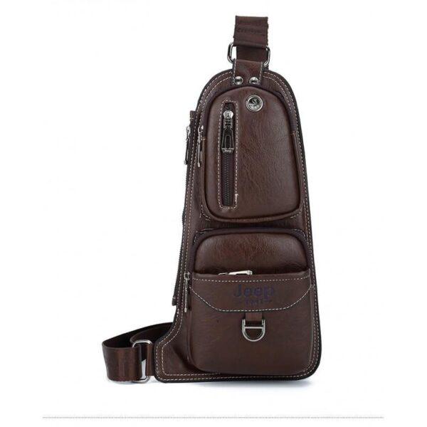 40128 - Мужская сумка-рюкзак FlyBag: PU кожа, регулируемый ремень, много карманов