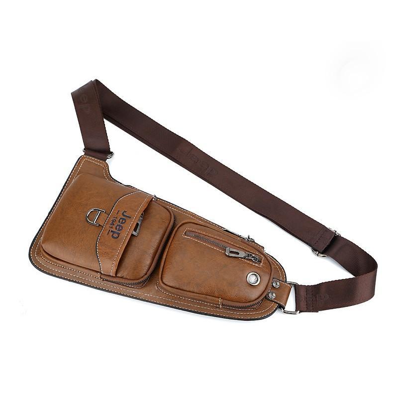 Мужская сумка-рюкзак FlyBag: PU кожа, регулируемый ремень, много карманов 215600