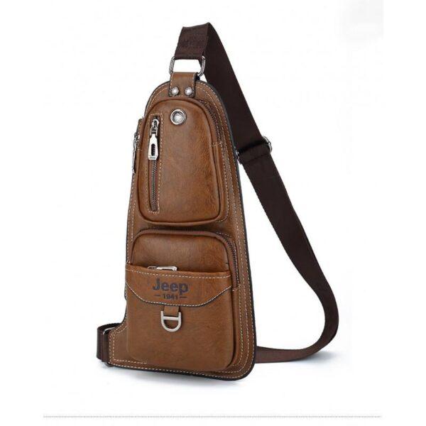 40134 - Мужская сумка-рюкзак FlyBag: PU кожа, регулируемый ремень, много карманов