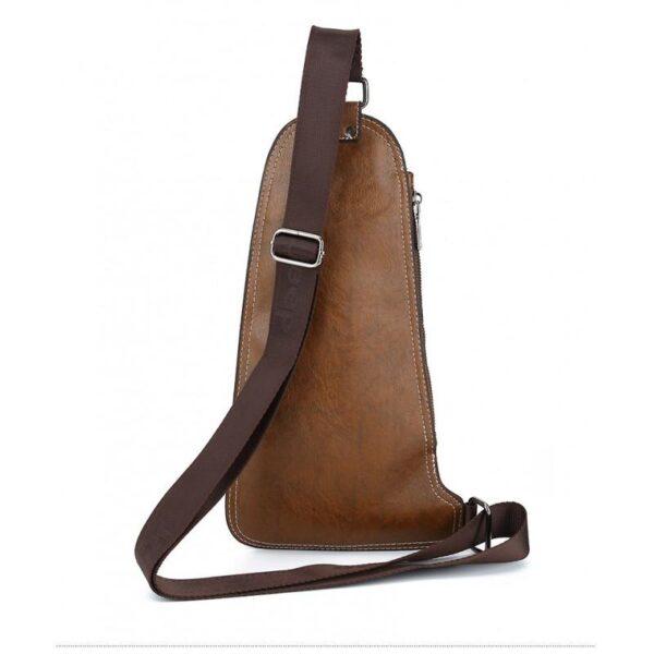 40135 - Мужская сумка-рюкзак FlyBag: PU кожа, регулируемый ремень, много карманов