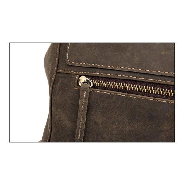 40181 - Вместительный городской рюкзак Coral Royal из натуральной кожи в стиле Craze Horse: кожа первый слой, унисекс