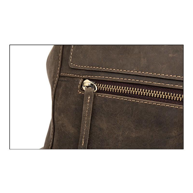 Вместительный городской рюкзак Coral Royal из натуральной кожи в стиле Craze Horse: кожа первый слой, унисекс 215647