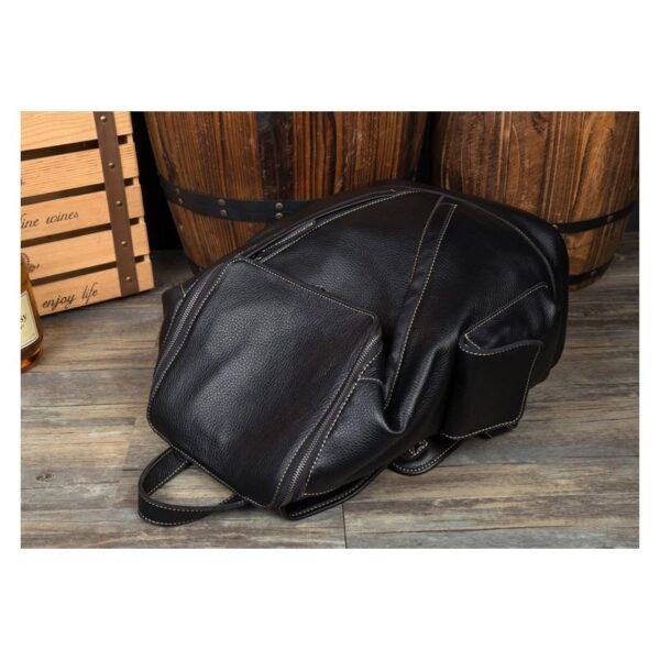 40184 - Вместительный городской рюкзак Coral Royal из натуральной кожи в стиле Craze Horse: кожа первый слой, унисекс
