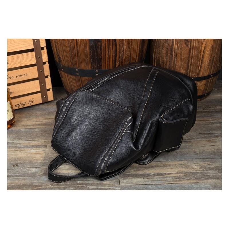 Вместительный городской рюкзак Coral Royal из натуральной кожи в стиле Craze Horse: кожа первый слой, унисекс 215650