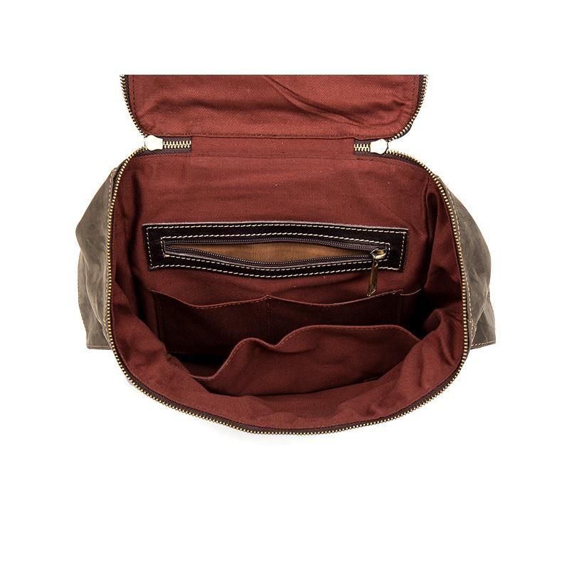 Вместительный городской рюкзак Coral Royal из натуральной кожи в стиле Craze Horse: кожа первый слой, унисекс 215651
