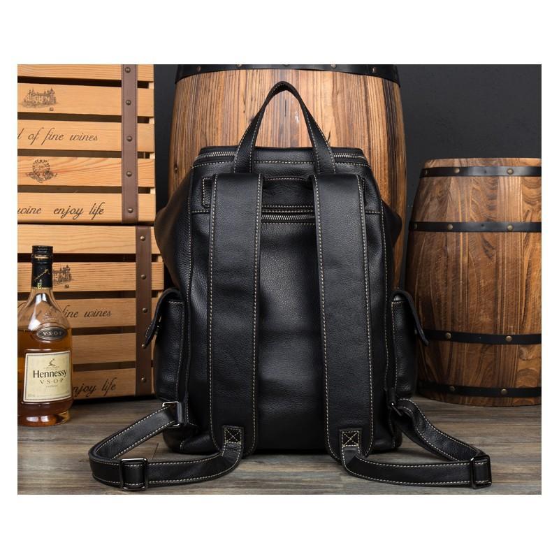Вместительный городской рюкзак Coral Royal из натуральной кожи в стиле Craze Horse: кожа первый слой, унисекс 215657