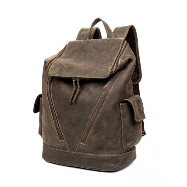 40193 - Вместительный городской рюкзак Coral Royal из натуральной кожи в стиле Craze Horse: кожа первый слой, унисекс