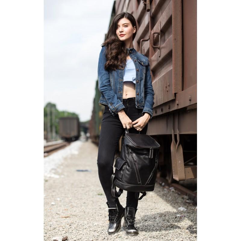 Вместительный городской рюкзак Coral Royal из натуральной кожи в стиле Craze Horse: кожа первый слой, унисекс 215660